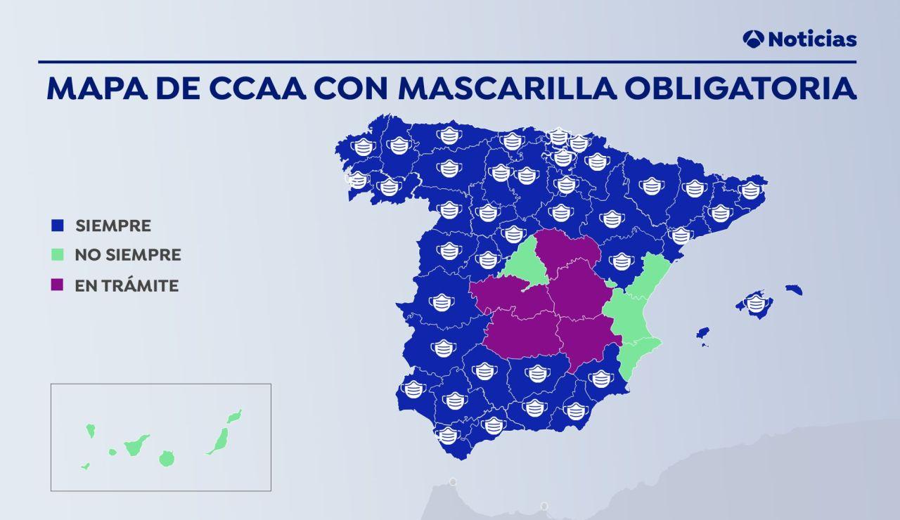 ¿Dónde es obligatorio el uso de la mascarilla para prevenir contagios de coronavirus?