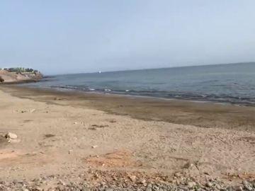 Desalojan una playa del sur de Gran Canaria por un vertido de fuel al mar