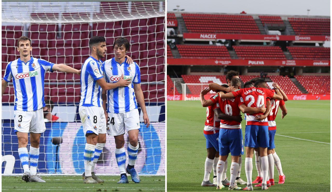 Real Sociedad y Granada certifican su billete para la próxima edición de la Europa League