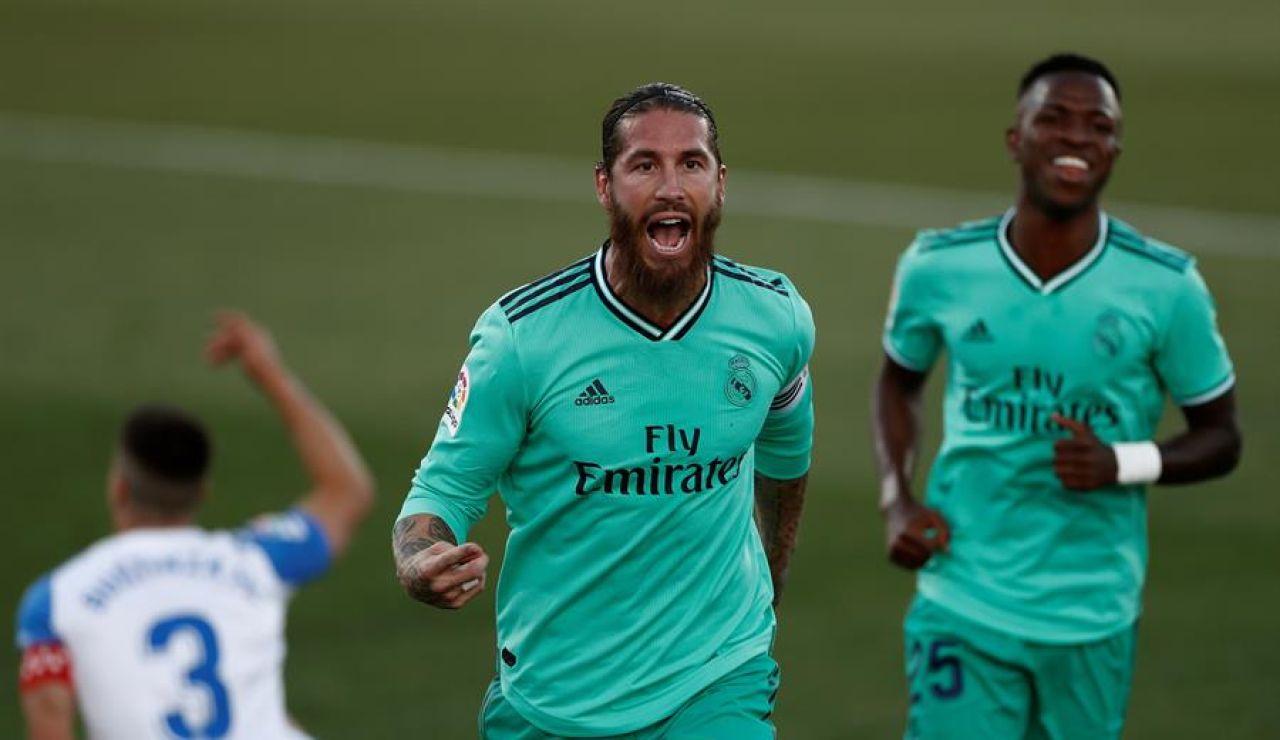 Sergio Ramos, tras marcar un gol en el Leganés-Real Madrid