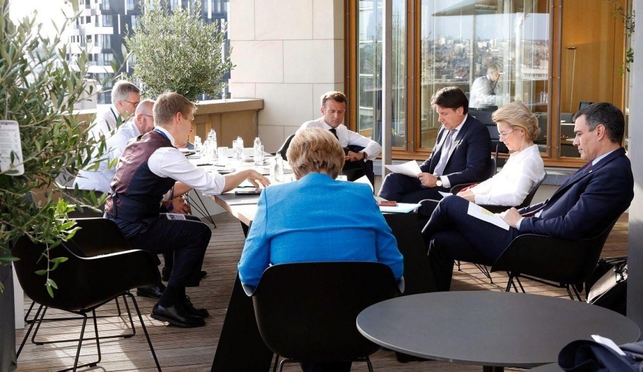 Líderes europeos en Bruselas