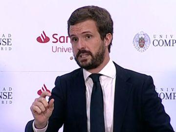 """Pablo Casado sobre Pedro Sánchez y el fondo de recuperación europeo: """"Ha llegado sin los deberes hechos a la negociación"""""""