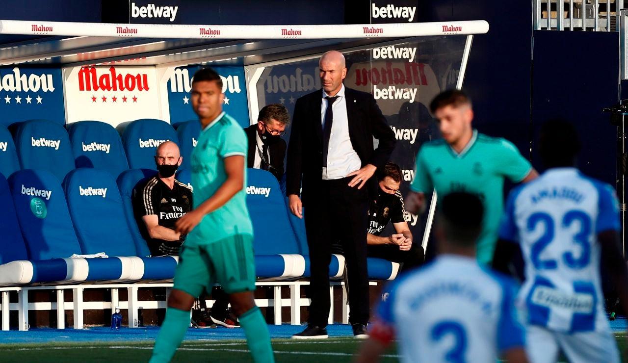 Zidane, en el partido ante el Leganés