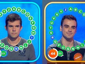 Emocionante duelo entre Nacho y Pablo en 'Pasapalabra': dos roscos casi perfectos, pero un único ganador