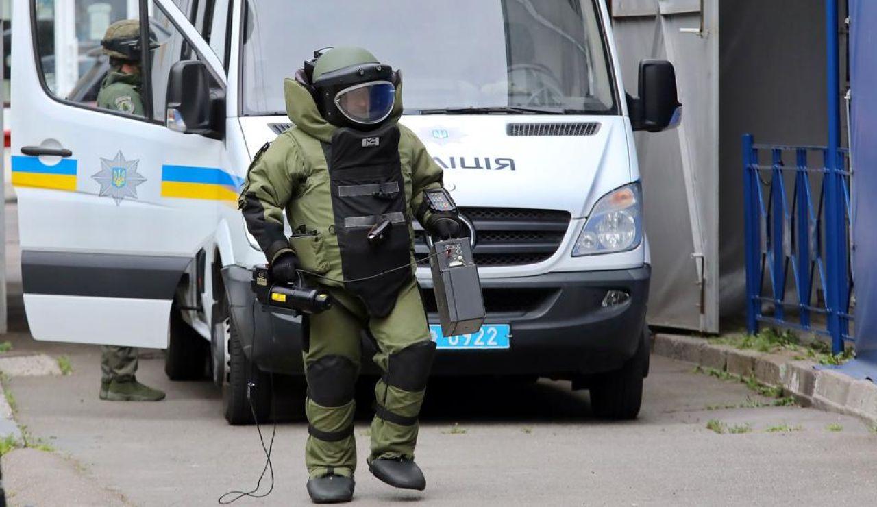 Especialista en explosivos en Ucrania (Archivo)