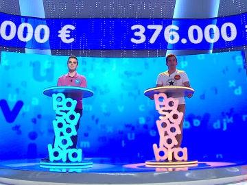 'El Rosco' más desigualado entre Pablo y Nacho: muchos fallos a causa del riesgo y aciertos que rozan el bote de 376.000 euros