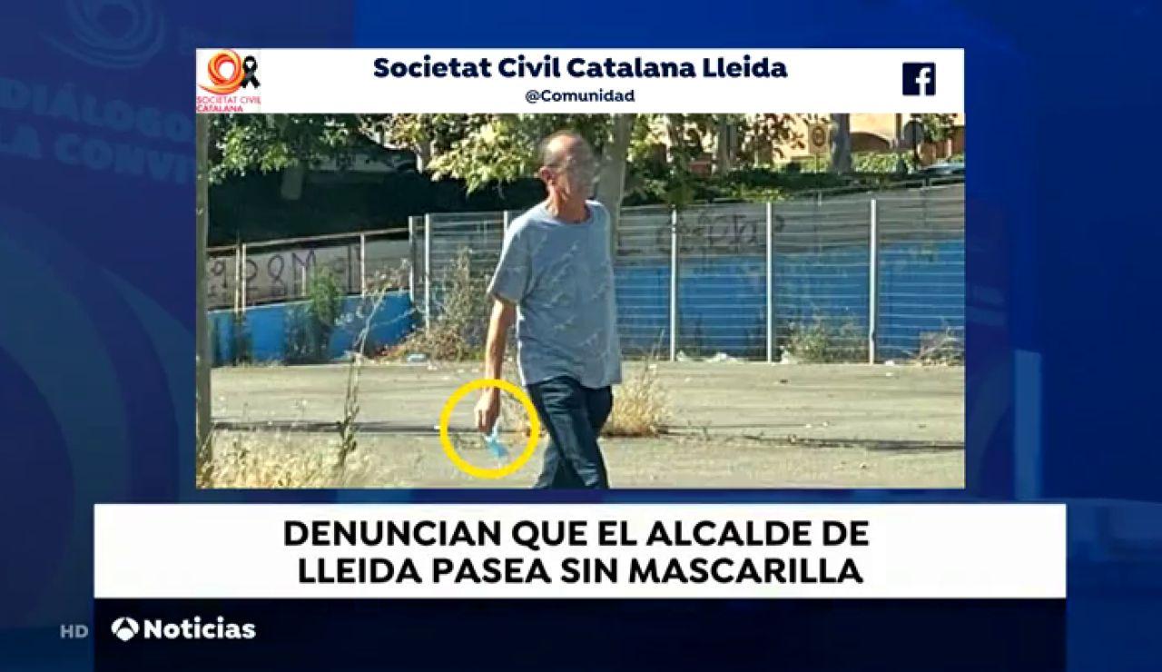 Societat Civil Catalana en Lleida denuncia la falta de responsabilidad del alcalde por no llevar mascarilla