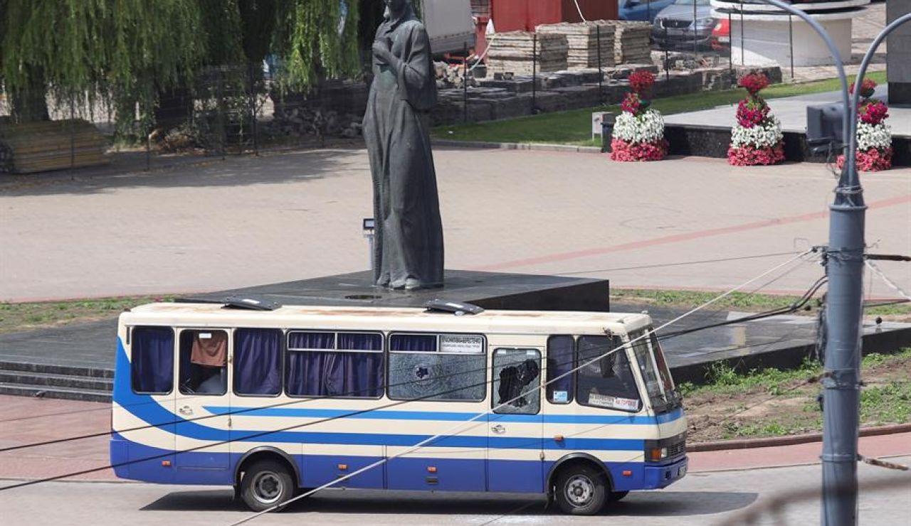 Secuestran autobús en Ucrania