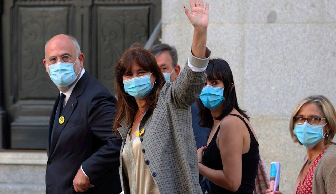 Laura Borrás a su llegada al Tribunal Supremo