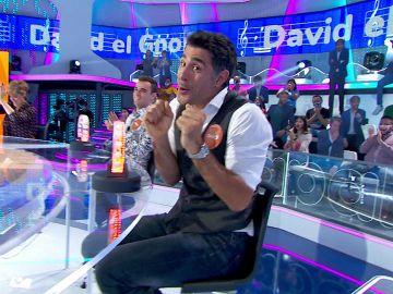 David Amor se convierte en 'David, el Gnomo' para conseguir cinco segundos en 'La Pista'