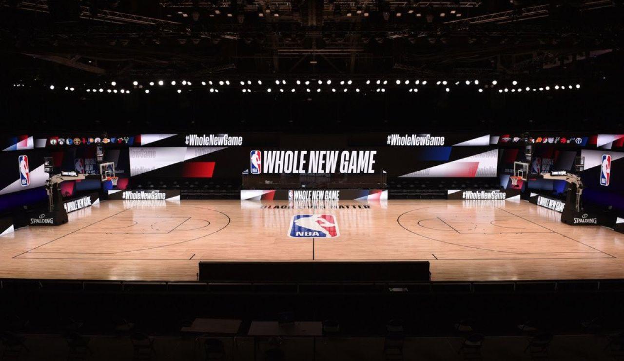 La nueva pista de la NBA en Orlando