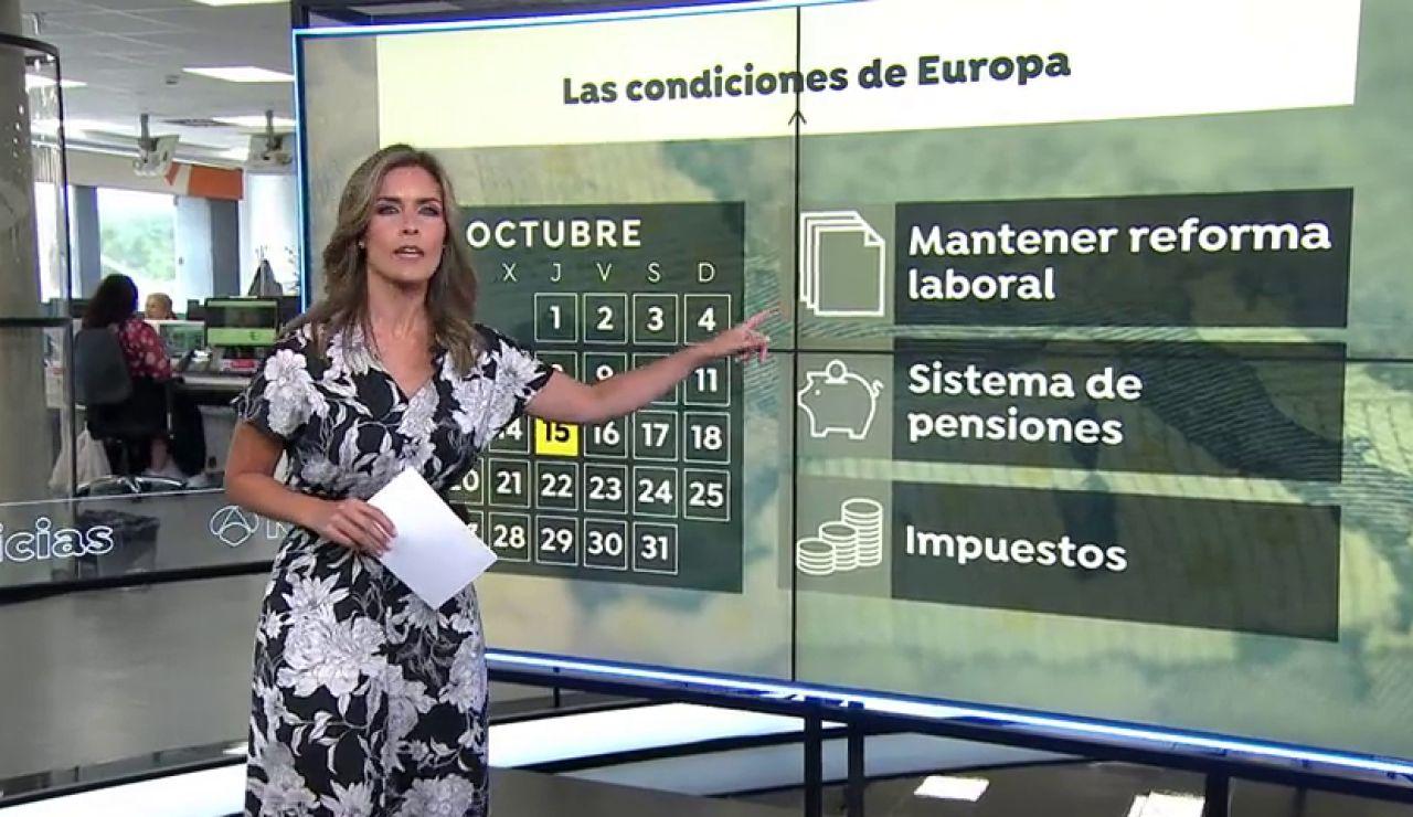 España tiene hasta el 15 de octubre para presentar las reformas que le permitan acceder a los fondos europeos coronavirus