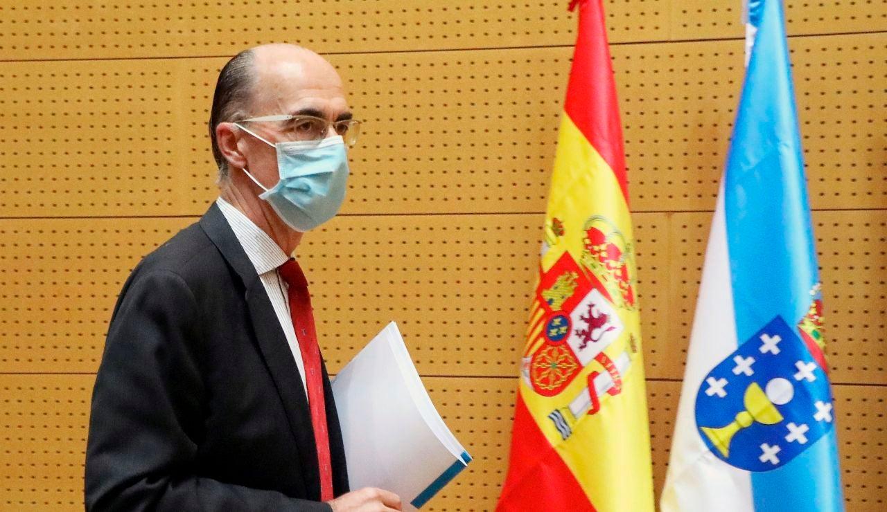 El conselleiro de Sanidad de la Xunta de Galicia, Jesús Vázquez Almuiña