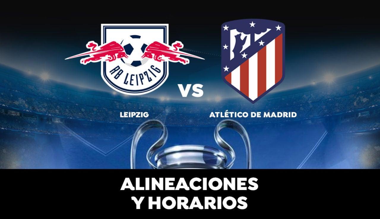Leipzig - Atlético de Madrid: Horario, alineaciones y dónde ver el partido en directo | Champions League