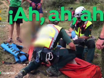 """La agonía de un ciclista solo y con la pierna rota en La Rioja: """"Se le salieron los huesos"""""""