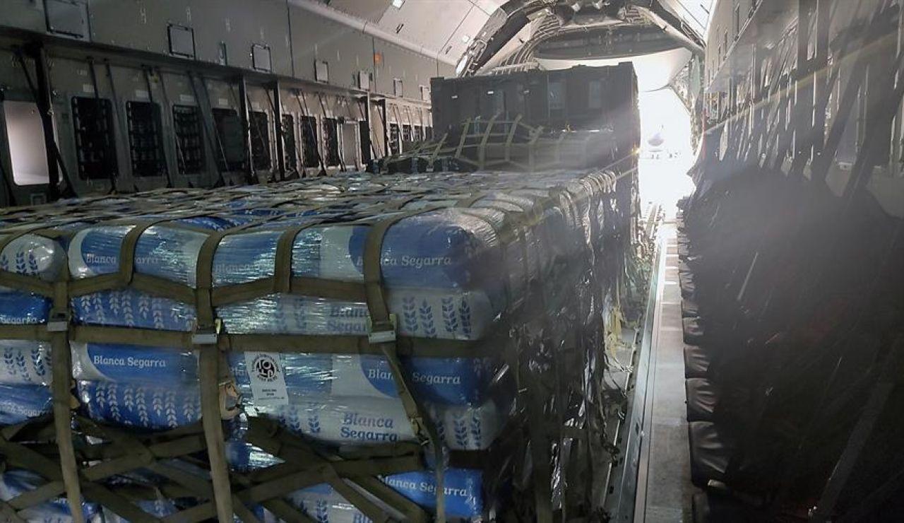 España envía ayuda humanitaria a Líbano