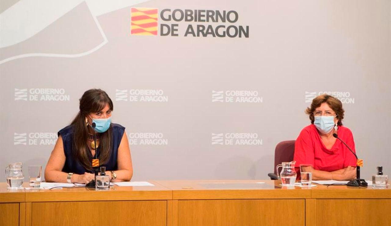 """La consejera de Sanidad de Aragón, """"moderadamente optimista"""" con la evolución de la pandemia de coronavirus"""