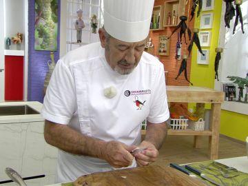 """Karlos Arguiñano revoluciona en la cocina con un """"alioli falso"""""""