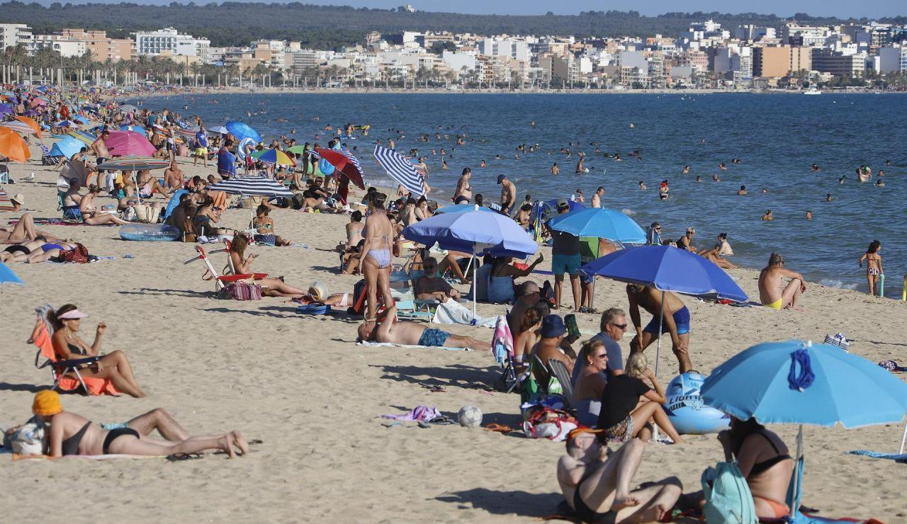 La playa del Arenal en Mallorca.