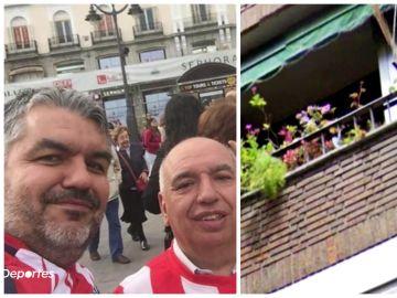 """La historia tras 'el balcón del Atleti', un matrimonio que murió de coronavirus: """"Hoy me acordaré de mis padres"""""""