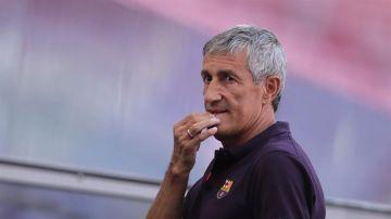 """Quique Setién: """"Lewandowski es un gran futbolista, pero no está a la altura de Messi"""""""