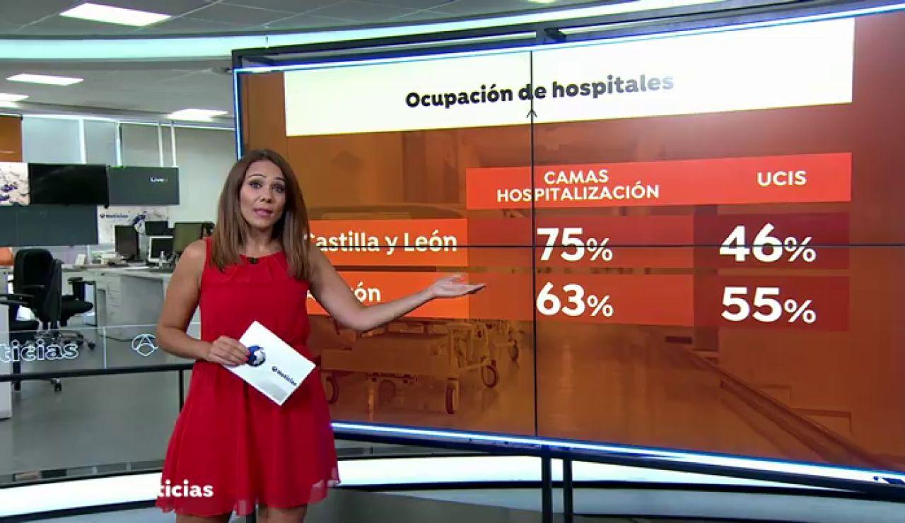 Aumentan las hospitalizaciones en Castilla y León