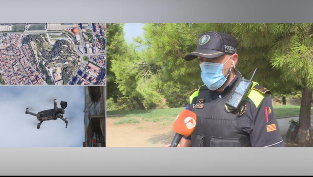 Así funciona el dron de la Guardia Urbana de Badalona para luchar contra los okupas