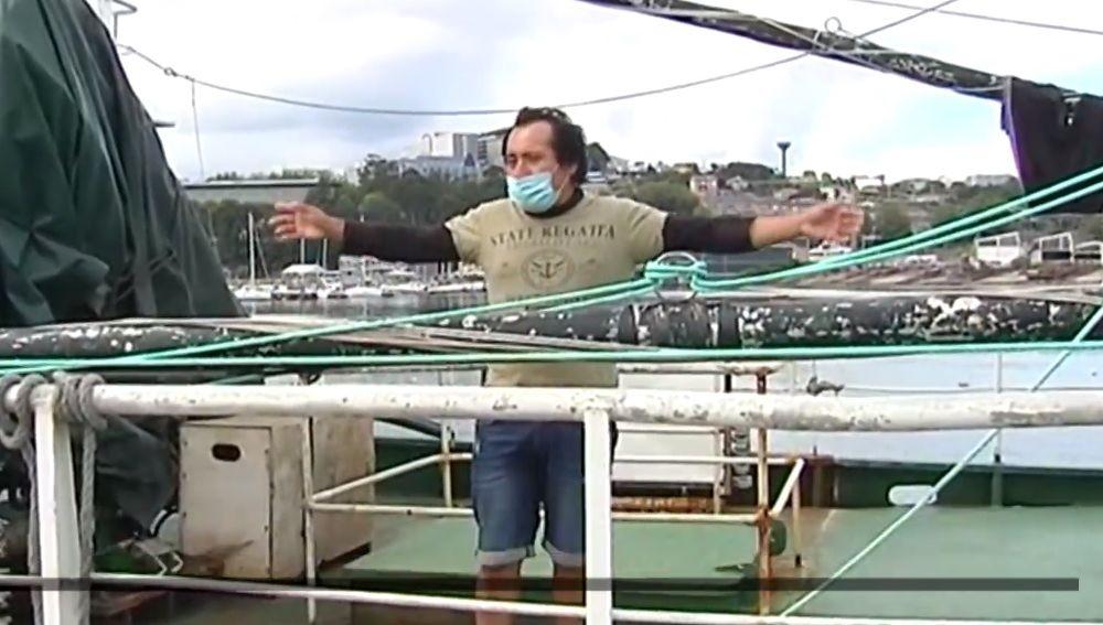 Confinado en un barco en Oza, en A Coruña