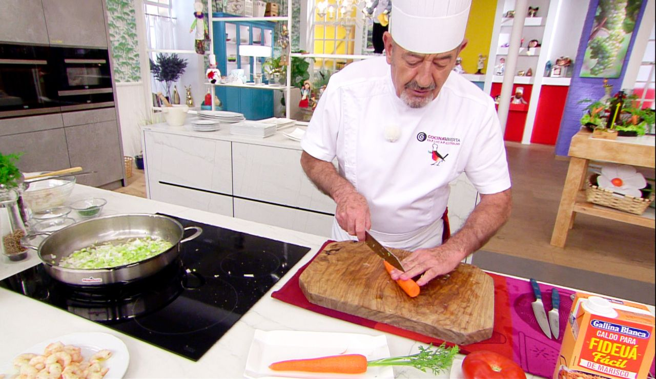 Truco de Arguiñano para no cortarse con la zanahoria