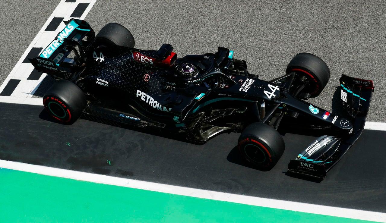 Lewis Hamilton, durante la clasificación en el GP de España