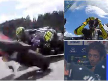 un milagro salva a Valentino Rossi de la tragedia en un espeluznante accidente de Moto GP