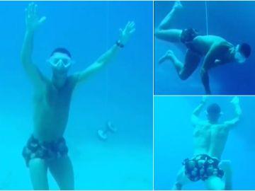 """La arriesgada inmersión de Cristiano Ronaldo a 14 metros sin oxígeno: """"Llamadme Neptuno"""""""