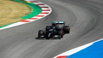 Hamilton, durante el GP de España