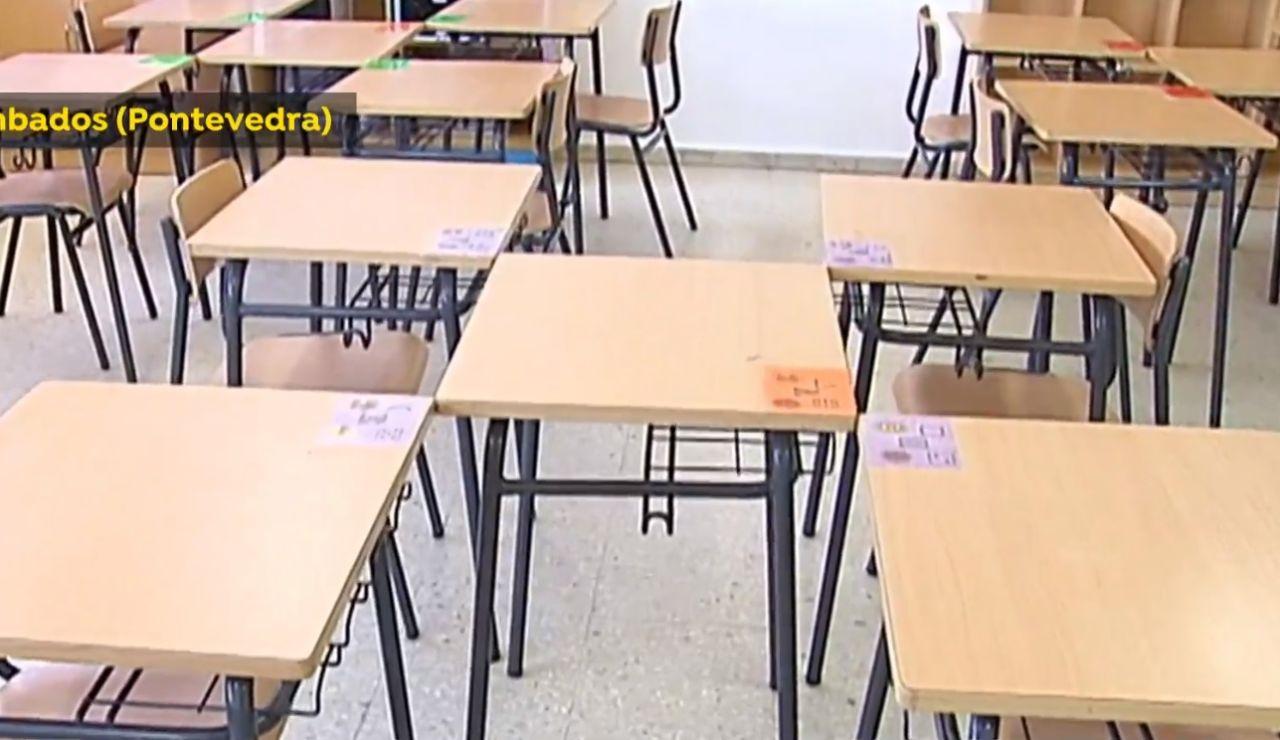 Modelo de aula para la vuelta al cole en Cambados, en Pontevedra