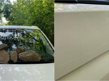 Imágenes del ataque a la furgoneta de Markel Irizar