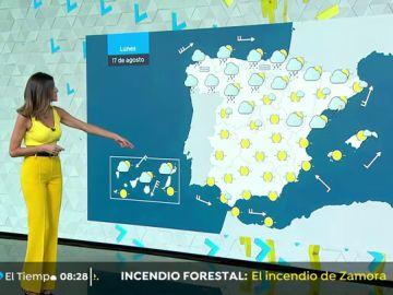 Cielos despejados en la mayor parte del país y rachas de viento fuerte en Canarias