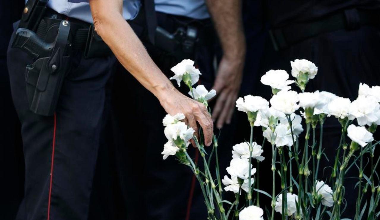 Homenaje a las víctimas del atentado de las Ramblas y Cambrils en el tercer aniversario