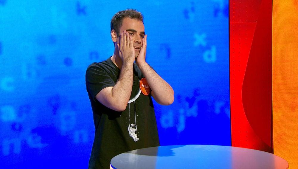"""¡A una de los 490.000 euros! Pablo se lamenta tras descubrir qué palabra se le ha resistido en 'El Rosco': """"Esto lo tengo y me va a sonar"""""""
