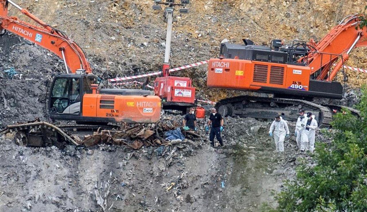 Equipos de rescate en el vertedero de Zaldibar