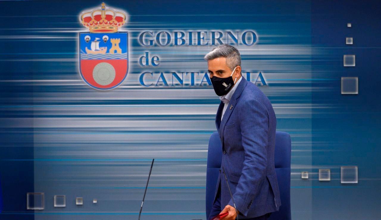 El vicepresidente y portavoz del Gobierno de Cantabria, Pablo Zuloaga