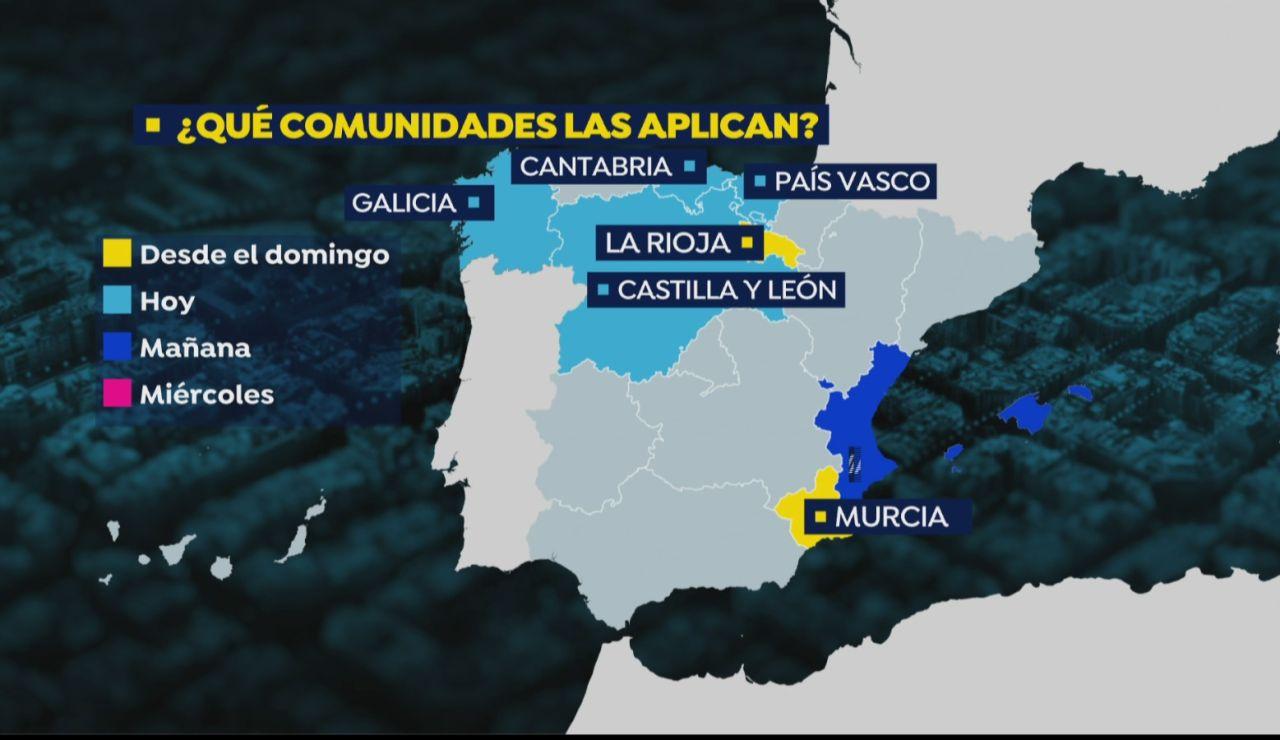 Mapa medidas coronavirus