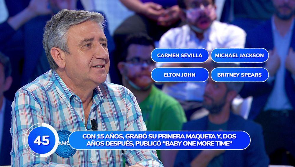 Carmen Sevilla rompe la mala racha del equipo azul provocada por Elton John en 'Una de Cuatro'