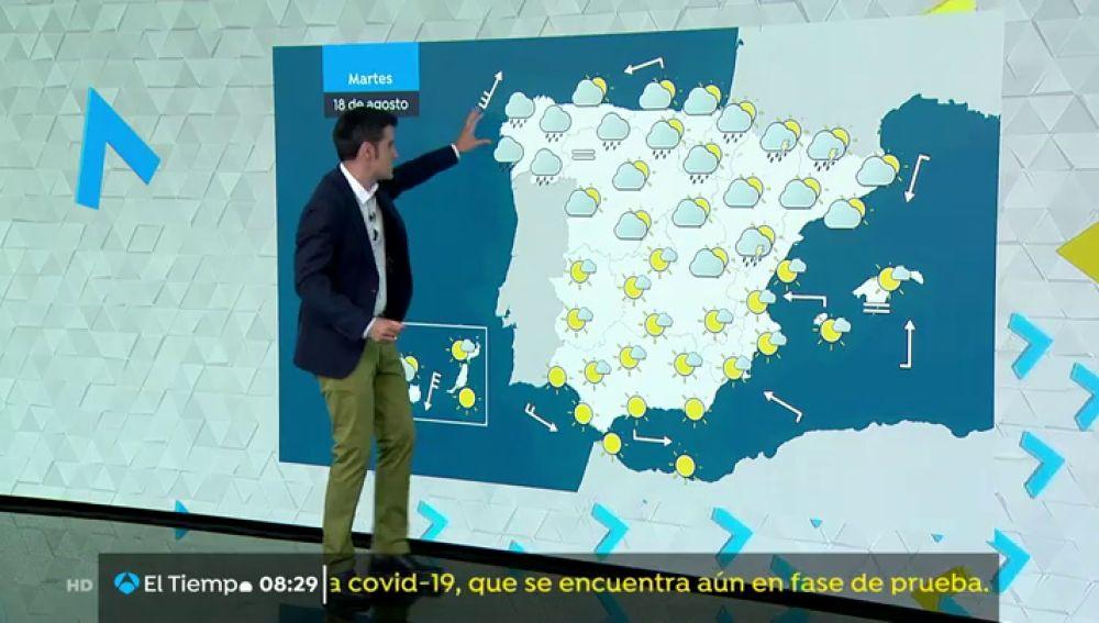 Este martes fuertes precipitaciones en el Pirineo y en el oeste de Galicia