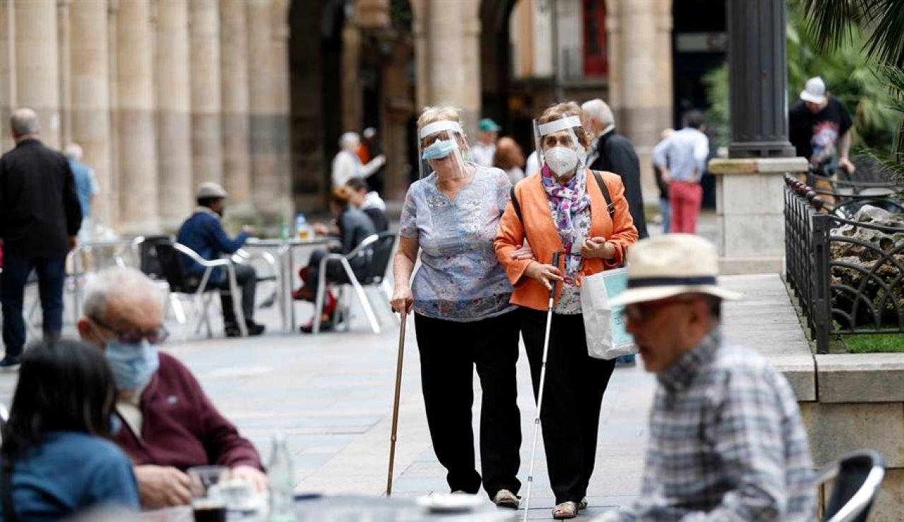 Clientes en terrazas de Bilbao