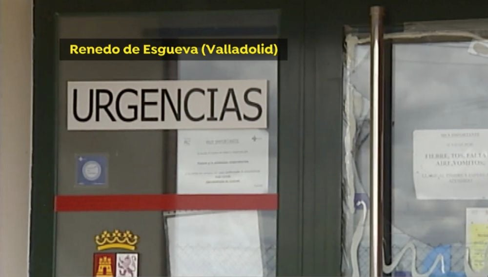 La puerta del centro sanitario