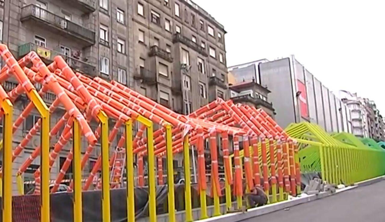 Polémica en Vigo por la construcción de una rampa mecánica para subir la cuesta de la Gran Vía