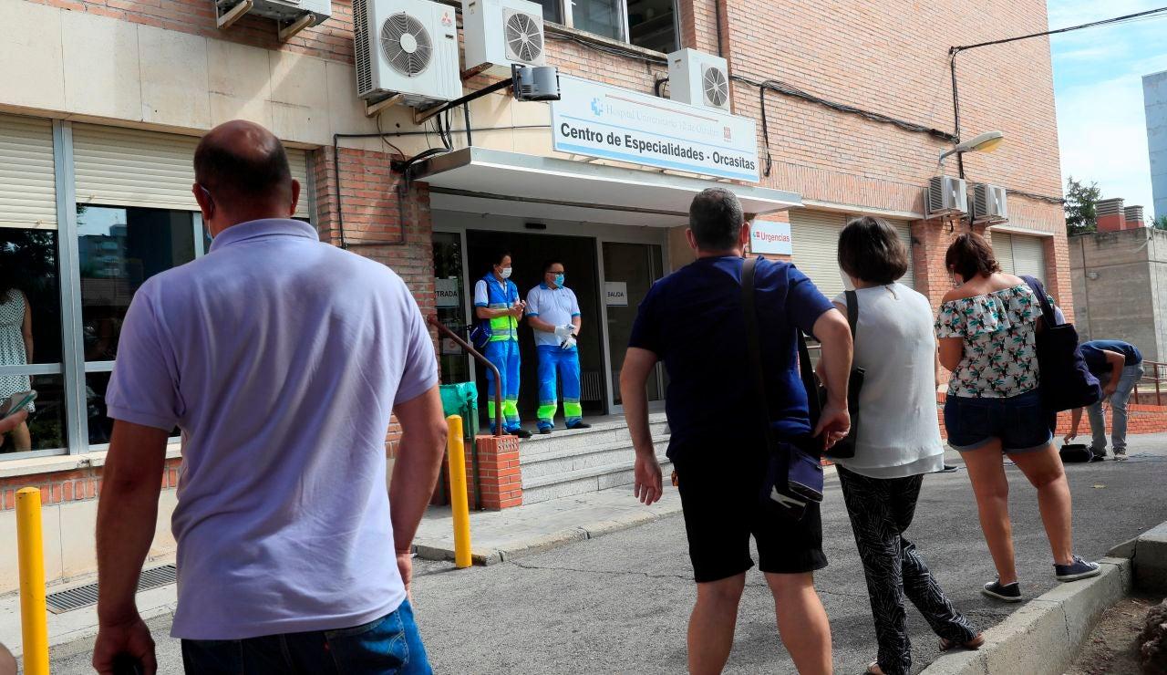 Pruebas PCR masivas en Madrid