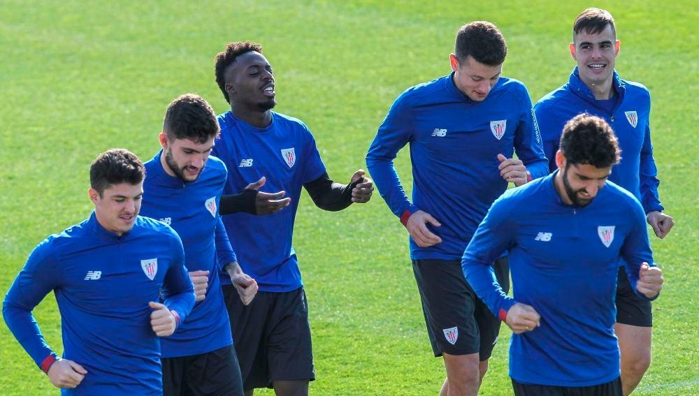 Imagen de un entrenamiento del Athletic de Bilbao