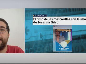 """Una víctima de la estafa de mascarillas con la imagen de Susanna Griso: """"Me dio confianza la pasarela de pago segura"""""""