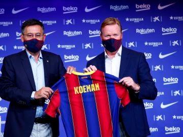 Ronald Koeman, en su presentación como entrenador del Barcelona